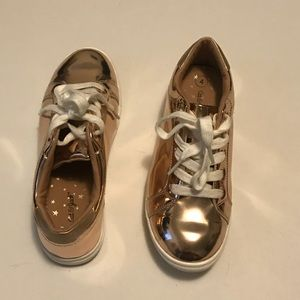 Rose gold cat and jack sneakers